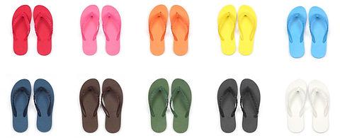 100パターン以上の組み合わせから色が選べるビーチサンダル