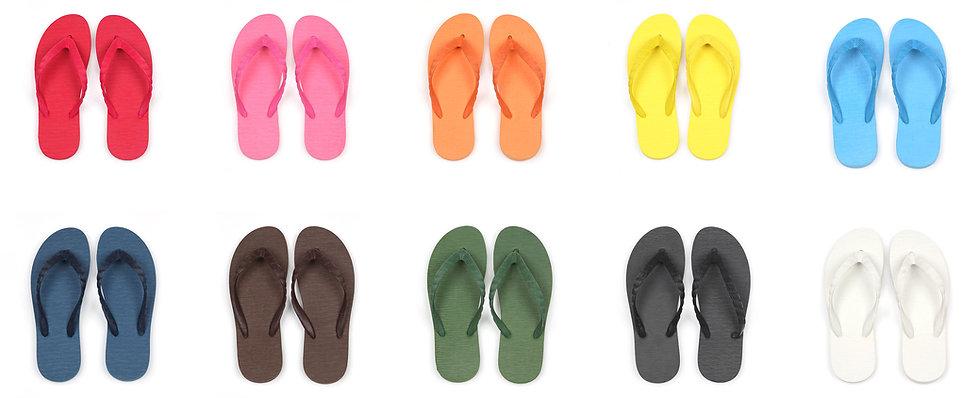 ビーチサンダルのカラーは100パターン以上