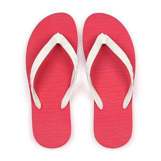 げんべいのビーチサンダル23cmでカラフルな人気の色はソールが赤色、鼻緒が白色です。