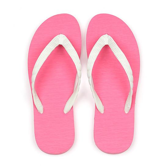 げんべいのビーチサンダル23cmでカラフルな人気の色はソールがピンク色、鼻緒が白色です。