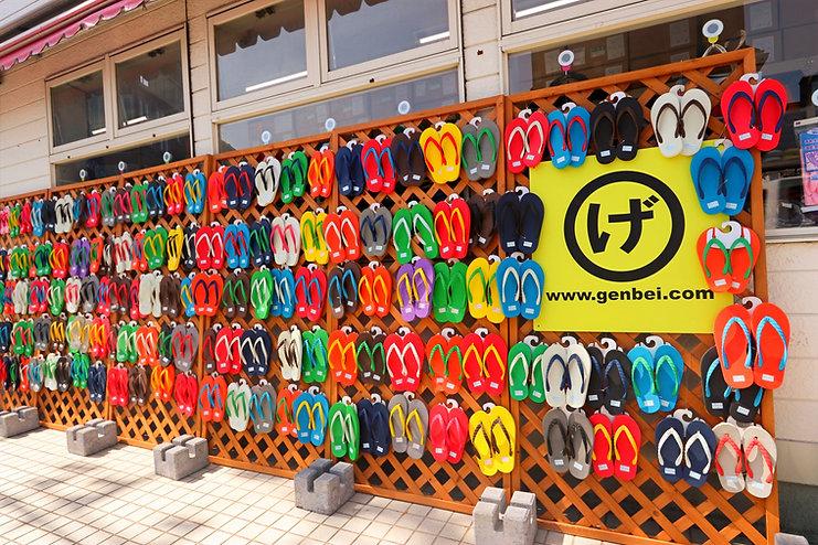 神奈川県の葉山にあるげんべい商店はビーチサンダルのお店です。