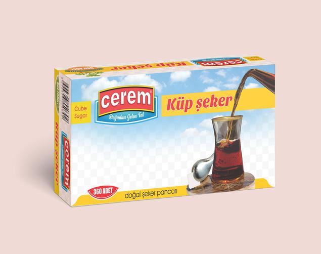 Cerem_Cerem Şeker 730 gr Küp şeker ambal