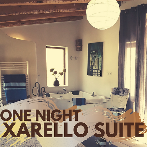 One night Xarello Suite with private jacuzzi
