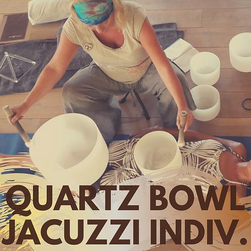Quartz bowl session in jacuzzi!