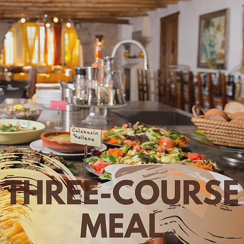 Three-course lunch or dinner!