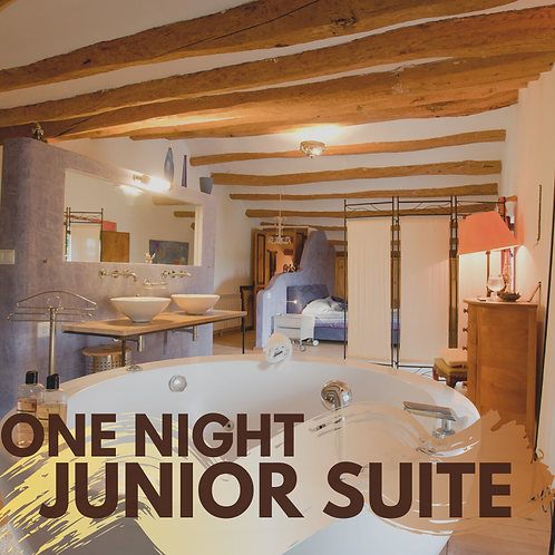One night Junior Suite with private jacuzzi