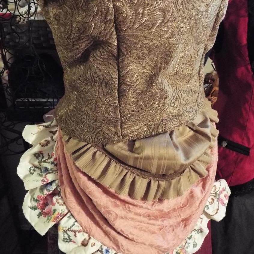 Steampunk Bodice & Bustle (back)