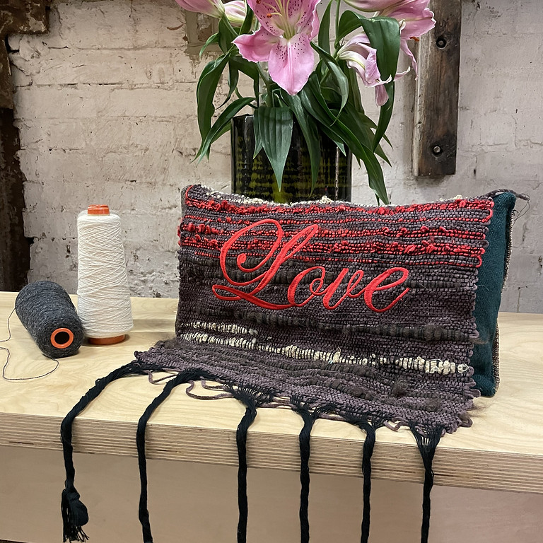 London Craft: Create your own bespoke cushion using hand weaving and embroidery.