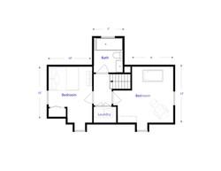 Upper level floorplan
