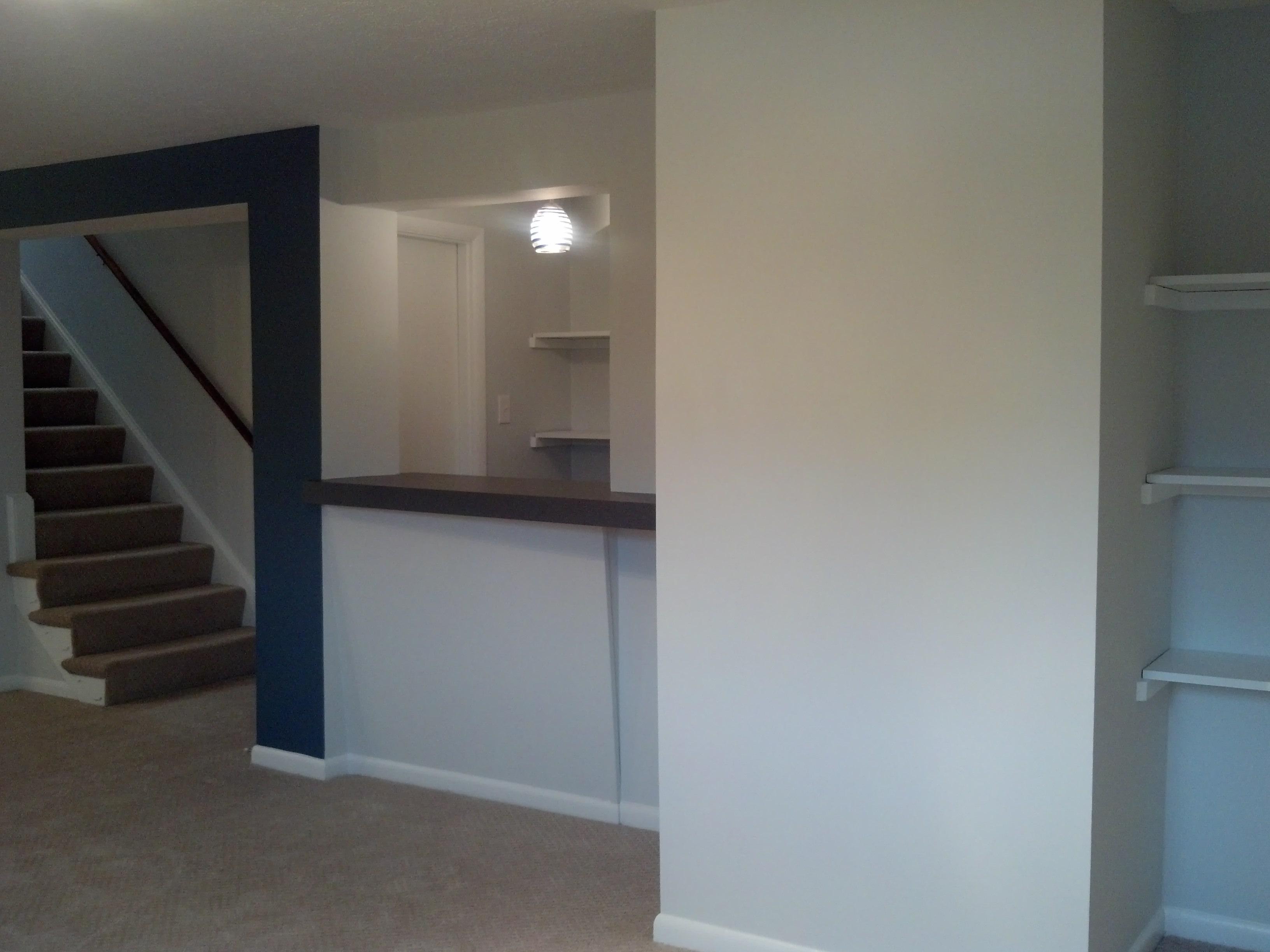 Finished Basement w/ Built-Ins & Bar