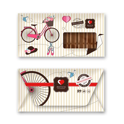 Envelope Bicicleta Rosa