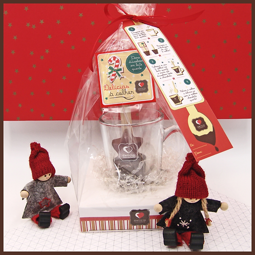 "Kit para Chocolate Quente ""Desejos de Natal"""