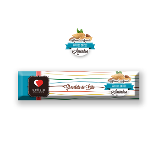 Barrita de Chocolate de Leite com Amêndoa