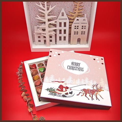 Caixa Pai Natal e Renas