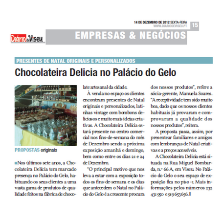 Chocolateria Delícia no Palácio do Gelo