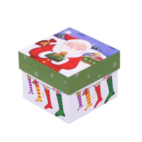 Caixa Pai Natal Meias   9 Bombons