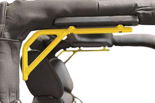 Grab Handle Kit, Jeep JK, Rear, Rigid Wire Form, Lemon Pee