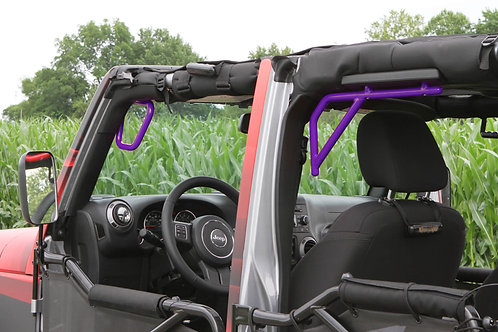 Grab Handle Kit, Jeep JK, Front and Rear, Rigid Wire Form, Sinbad Purple