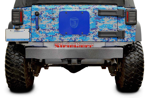 Steinjäger Bumpers Wrangler JK 2007-2018 Bumper, Rear Cap Style Gray Hammertone