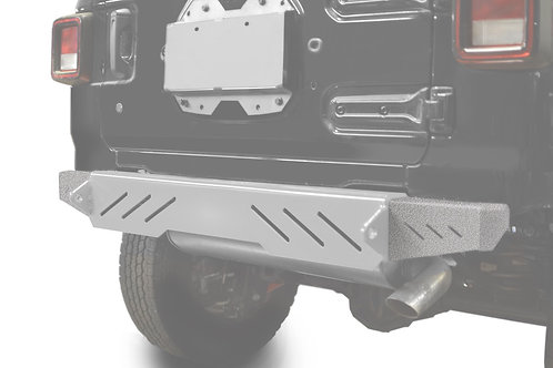 Wrangler JL 2018 to Present Bumper End Caps, Rear Cap Style Gray Hammertone