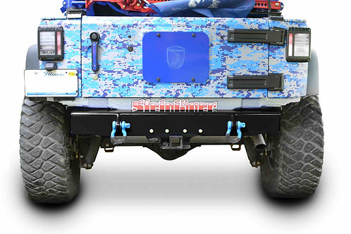 Wrangler JK 2007-2018 Bumper, Rear Cap Style with D-Ring Mounts Bare