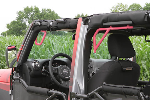 Grab Handle Kit, Jeep JK, Front and Rear, Rigid Wire Form, Pinky