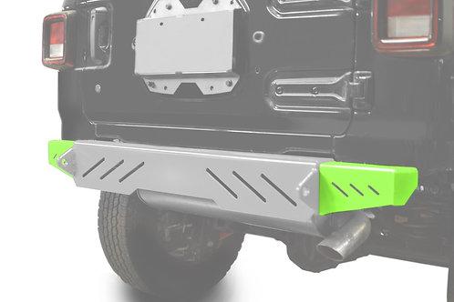 Wrangler JL 2018 to Present Bumper End Caps, Rear Cap Style Neon Green