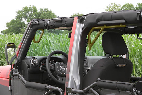 Grab Handle Kit, Jeep JK, Front and Rear, Rigid Wire Form, Locas Green