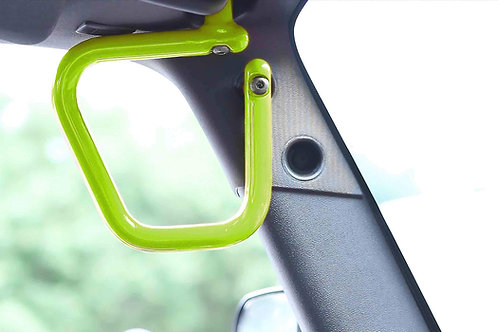 Grab Handle Kit, Jeep JK Front, Rigid Wire Form, Gecko Green