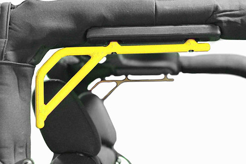 Grab Handle Kit, Jeep JK, Rear, Rigid Wire Form, Painted Neon Yellow