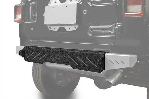 Wrangler JL 2018 to Present Bumper, Rear Cap Style Texturized Black