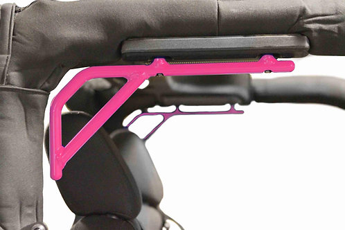 Grab Handle Kit, Jeep JK, Rear, Rigid Wire Form, Painted Hot Pink
