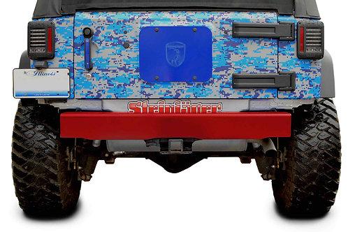 Steinjäger Bumpers Wrangler JK 2007-2018 Bumper, Rear Cap Style Red Baron