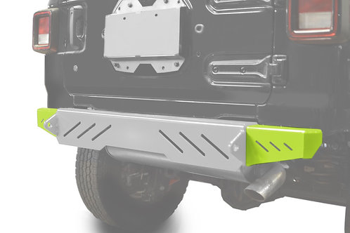 Wrangler JL 2018 to Present Bumper End Caps, Rear Cap Style Gecko Green