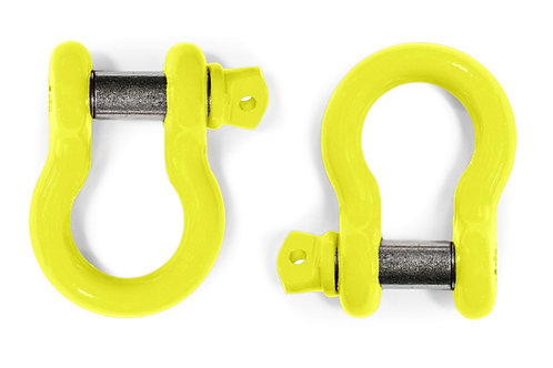 Steinjäger D-Ring Shackle Wrangler JT 2019-Present Neon Yellow 2 D-rings
