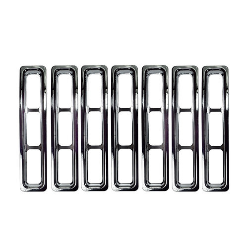 Chrome Grill Grille Inserts Kit for Jeep Wrangler TJ 97-06