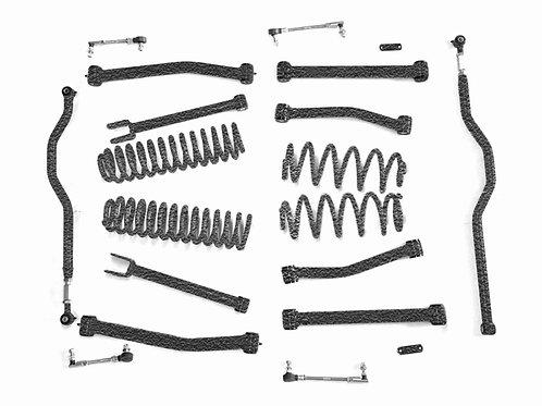 Steinjäger Lift Kit Wrangler JK 2007-2018 4 Inch Texturized Black
