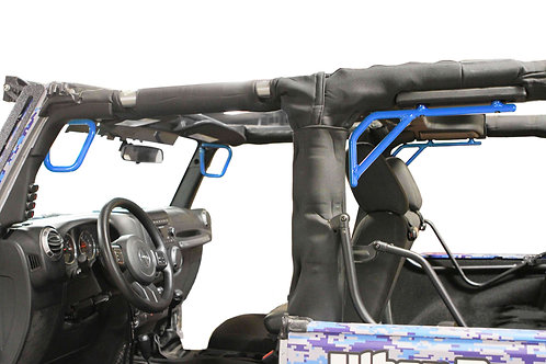 Grab Handle Kit, Front and Rear, 2 Door Only, Rigid Wire Form, Playboy Blue