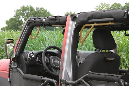 Grab Handle Kit, Jeep JK, Front and Rear, Rigid Wire Form, Military Beige