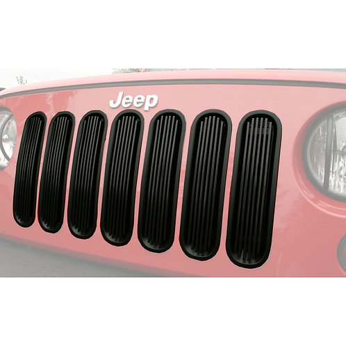 Black Billet Grille Inserts for Jeep Wrangler JK 2007-2018