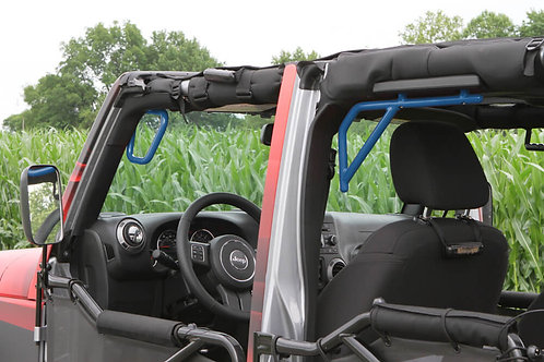Grab Handle Kit, Jeep JK, Front and Rear, Rigid Wire Form, Playboy Blue