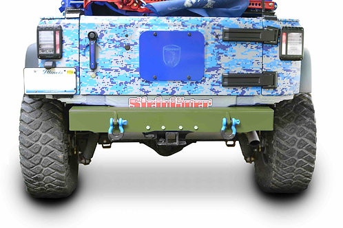 Wrangler JK 2007-2018 Bumper, Rear Cap Style with D-Ring Mounts Locas Green