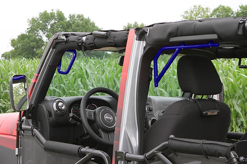 Grab Handle Kit, Jeep JK, Front and Rear, Rigid Wire Form, Southwest Blue
