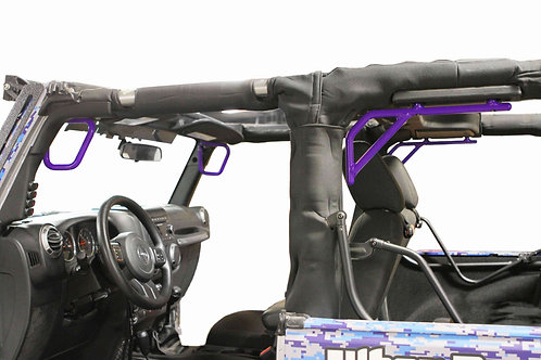 Grab Handle Kit, Front and Rear, 2 Door Only, Rigid Wire Form, Sinbad Purple