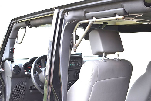 Grab Handle Kit, Jeep JK, Front and Rear, Rigid Wire Form, Bare