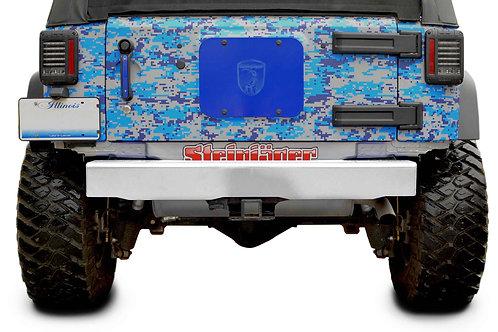 Wrangler JK 2007-2018 Bumper, Rear Cap Style Cloud White
