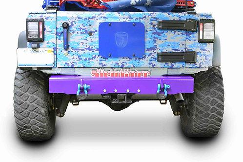 Wrangler JK 2007-2018 Bumper, Rear Cap Style with D-Ring Mounts Sinbad Purple