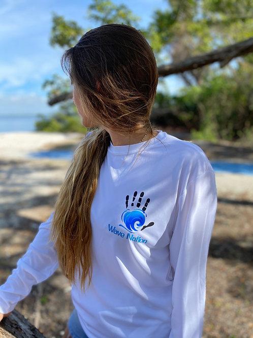 Wave Nation Ladies Long sleeve White Shirt