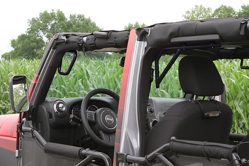 Grab Handle Kit, Jeep JK, Front and Rear, Rigid Wire Form, Black
