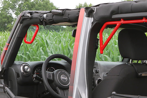 Grab Handle Kit, Jeep JK, Front and Rear, Rigid Wire Form, Red Baron